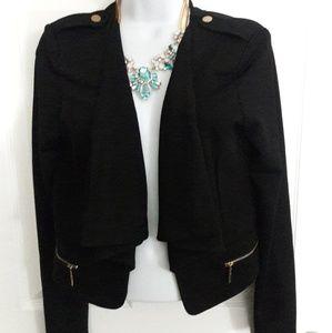 ALT. B black crop blazer size L